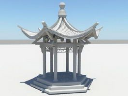 Asian Pavilion 3d preview
