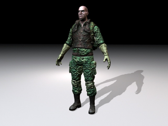 Army Commando 3d rendering
