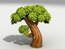 Cartoon Tree 3d preview