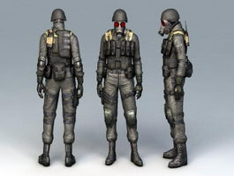 Chemical Soldier 3d preview