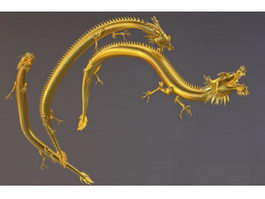 Gold Chinese Dragon 3d preview