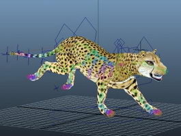 Cheetah Animated Rig 3d preview