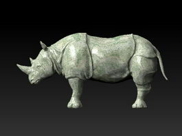 Rhino Sculpture 3d preview