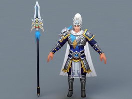 Traditional Ancient Chinese Soldier 3d preview