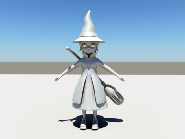 Cute Witch 3d rendering