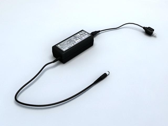 Laptop Power Adapter 3d rendering