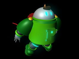 Cool Cartoon Robot 3d model preview