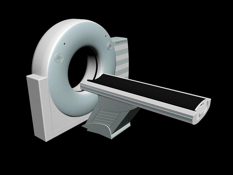 SOMATOM Spirit CT Scanner 3d rendering