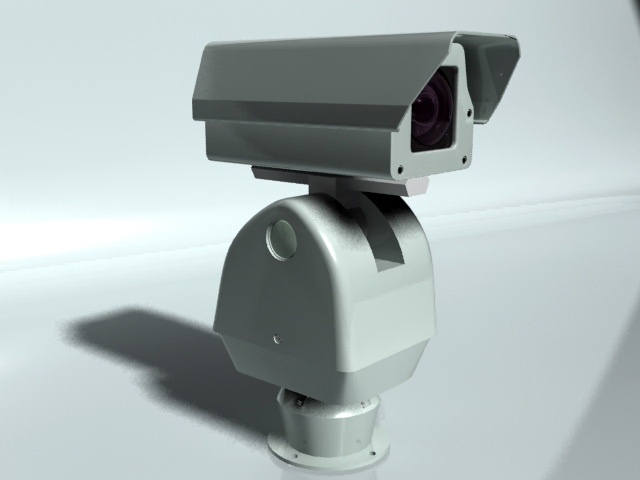 Outdoor Security Camera 3d rendering