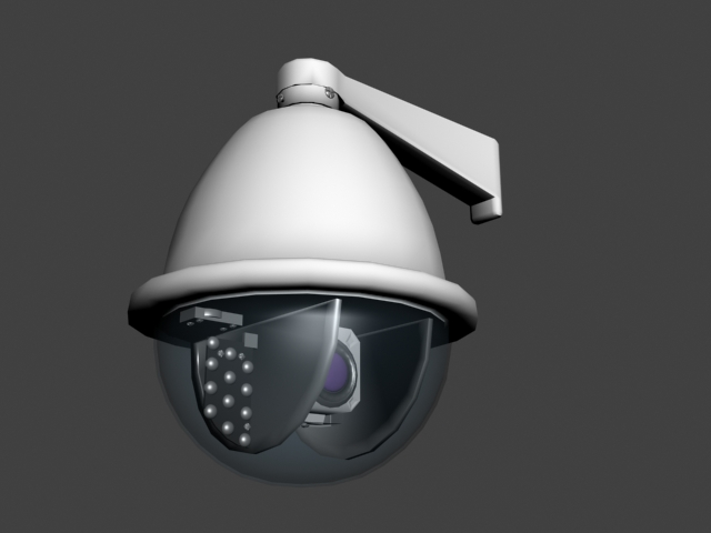 PTZ Security Camera 3d rendering