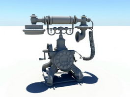 Antique Telephone 3d model preview