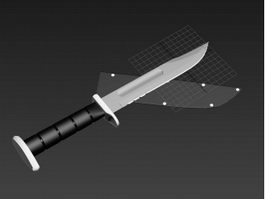 Hunting Knife 3d model preview