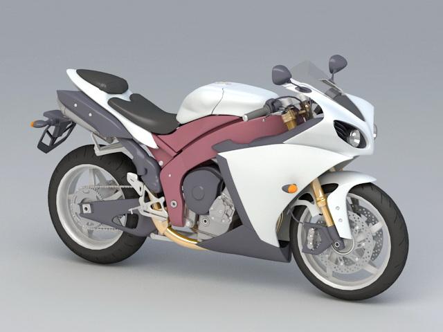 Harley Motorcycle 3d rendering