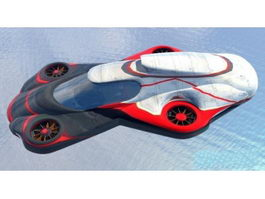 Futuristic Flying Car 3d preview