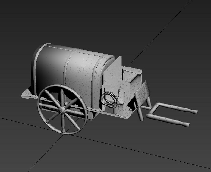 Old Wagon 3d rendering