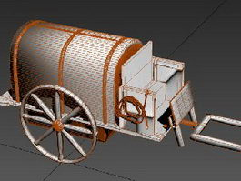 Old Wagon 3d preview