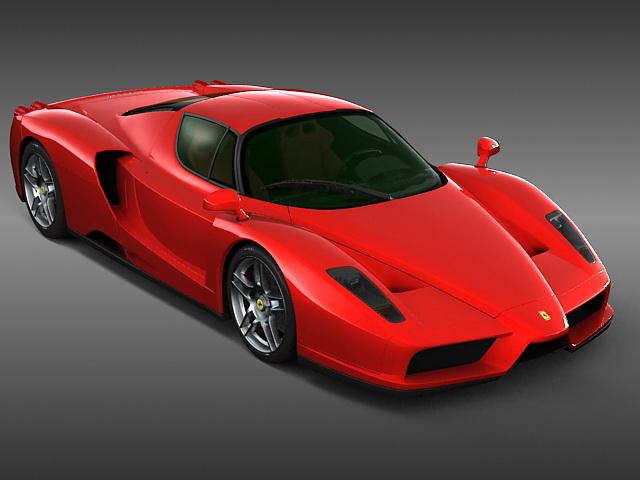 Enzo Ferrari 3d rendering