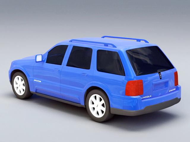 Lincoln Aviator 3d rendering