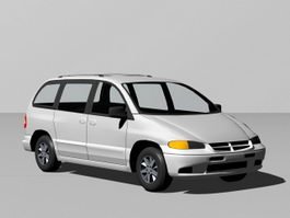 Modern Station Wagon 3d preview