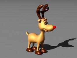 Christmas Baby Deer 3d model preview