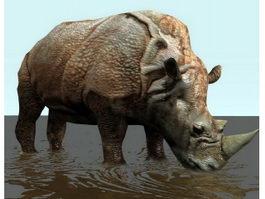 Black Rhinoceros Rig 3d preview
