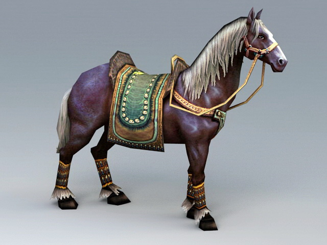 Horse Animated Rig 3d rendering