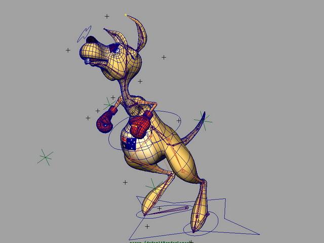 Cartoon Kangaroo Rig 3d rendering