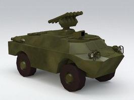 BRDM Amphibious Vehicle 3d model preview