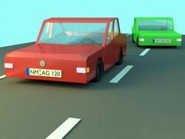 Low Poly Car 3d preview