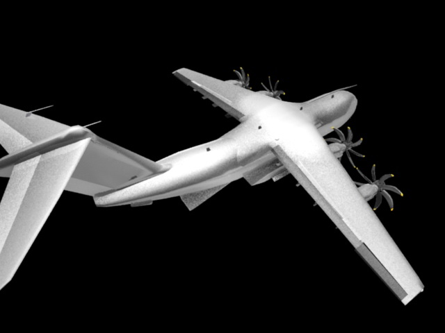 Airbus A400M 3d rendering