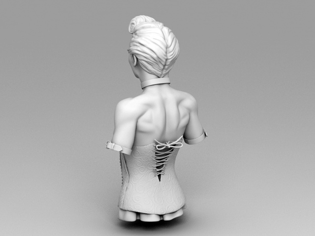 Bust of Noble Woman 3d rendering