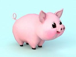 Cute Cartoon Pig 3d preview