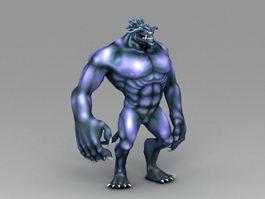 Blue Werelion 3d preview