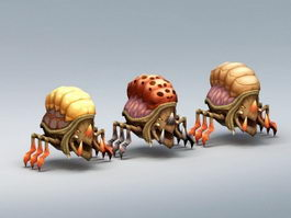 Insect Monster Rig 3d model preview