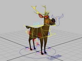 Cartoon Deer Rig 3d preview