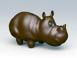 Rhinoceros Figurine 3d model preview