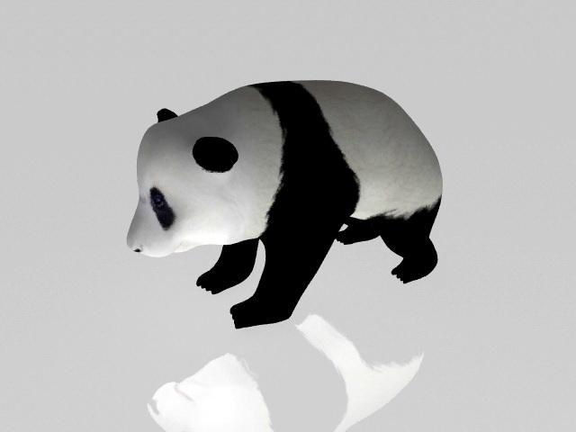 Panda Rig 3d rendering