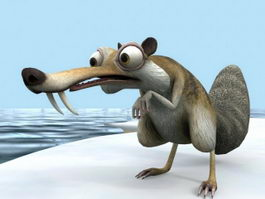 Ice Age Scrat 3d preview