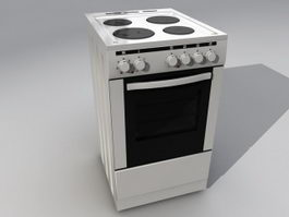 Gas Stove with Oven 3d model preview