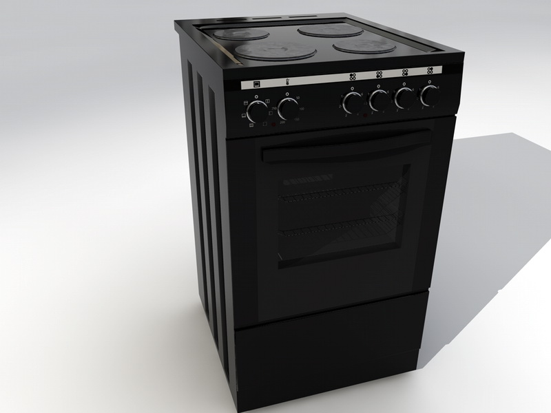 Gas Stove with Oven 3d rendering