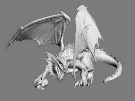 Hell Demon Dragon 3d preview