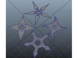 Shuriken Throwing Stars 3d preview