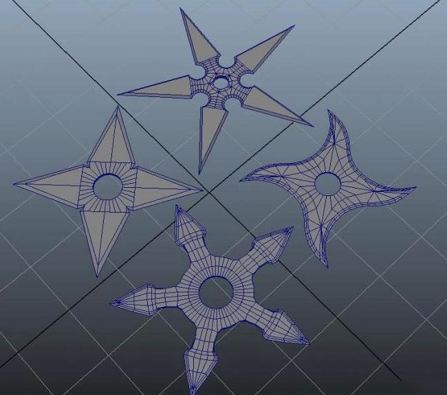 Shuriken Throwing Stars 3d rendering