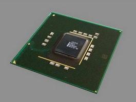 Intel P45 Chipset 3d model preview