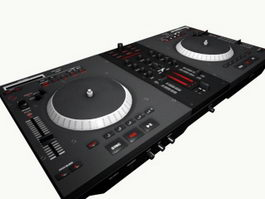 DJ Mixer Turntable 3d preview