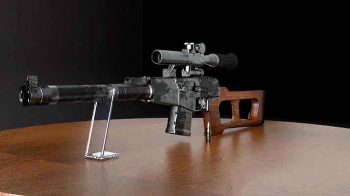 VSS Vintorez Sniper Rifle 3d rendering