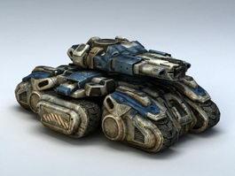 Starcraft Siege Tank 3d preview