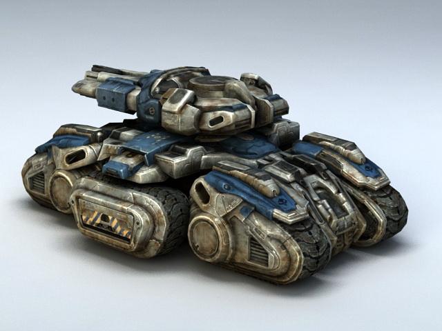 Starcraft Siege Tank 3d rendering