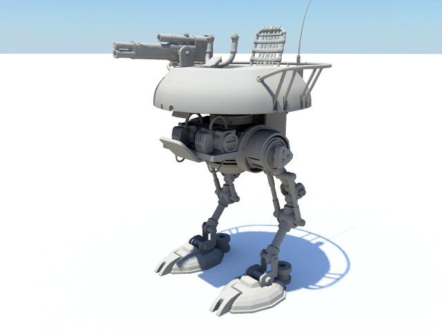 War Mecha Rig 3d rendering