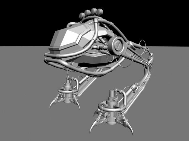 Combat Mech Rig 3d rendering